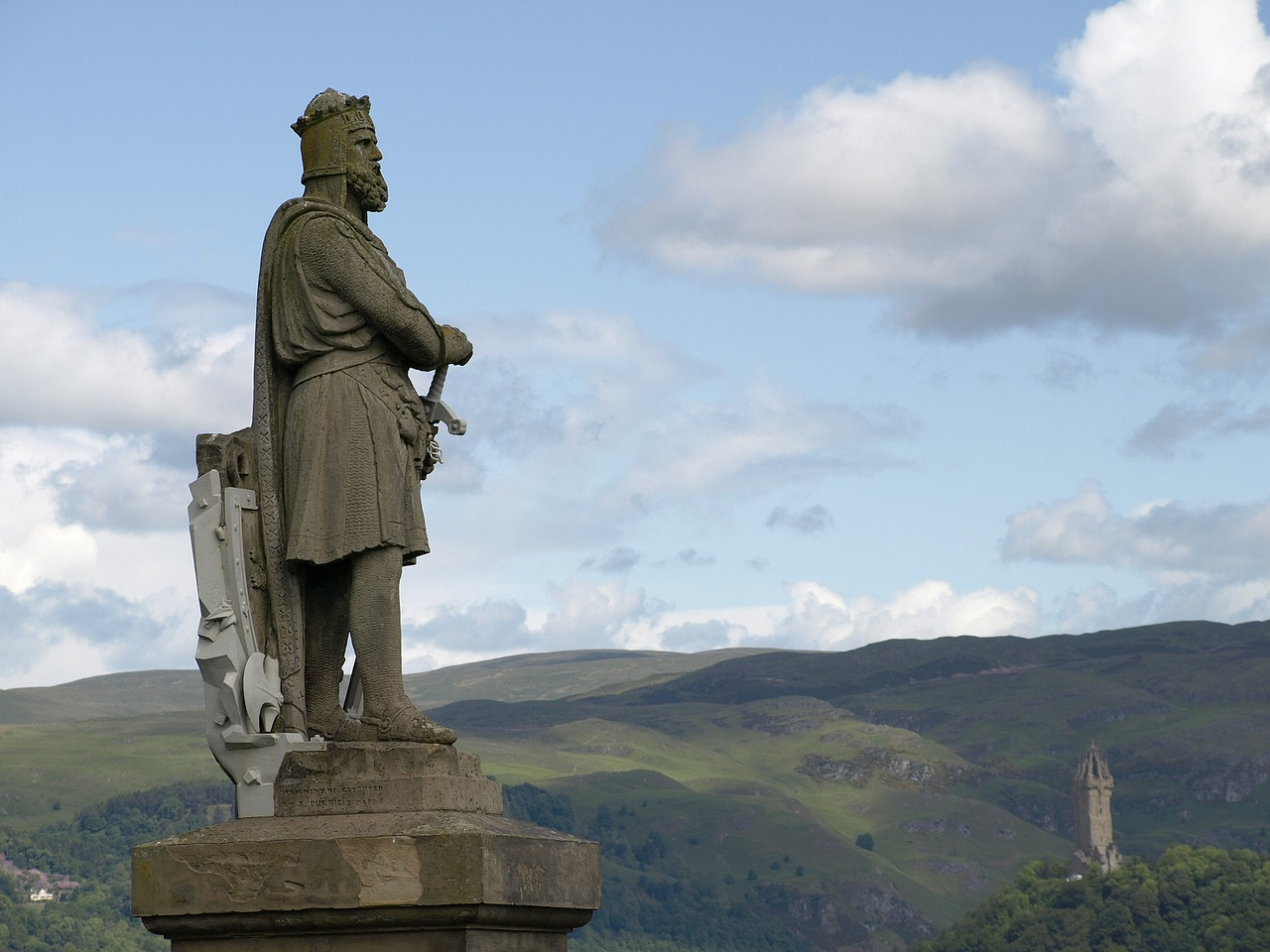 stirling scotland attractions - wallace monument from stirling castle
