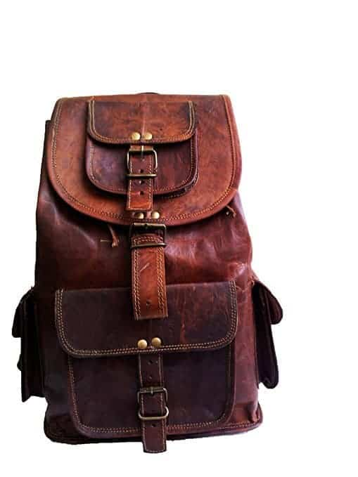 leather rucksack | wedding gifts for travel couples