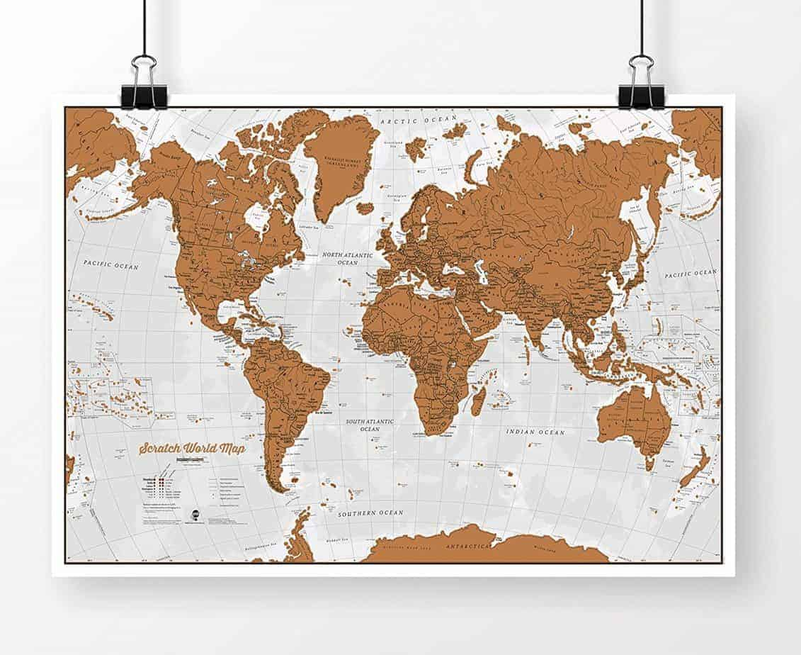map | wedding gifts for travel couples