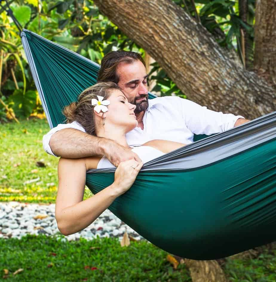couple in hammock wedding gifts for travel couples