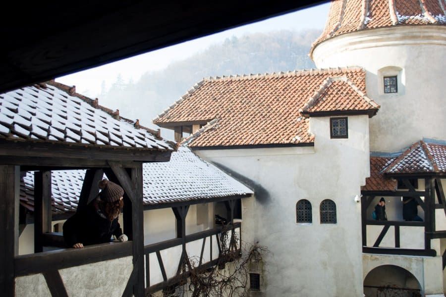 things to do Brasov Romania - Castle Bran inside