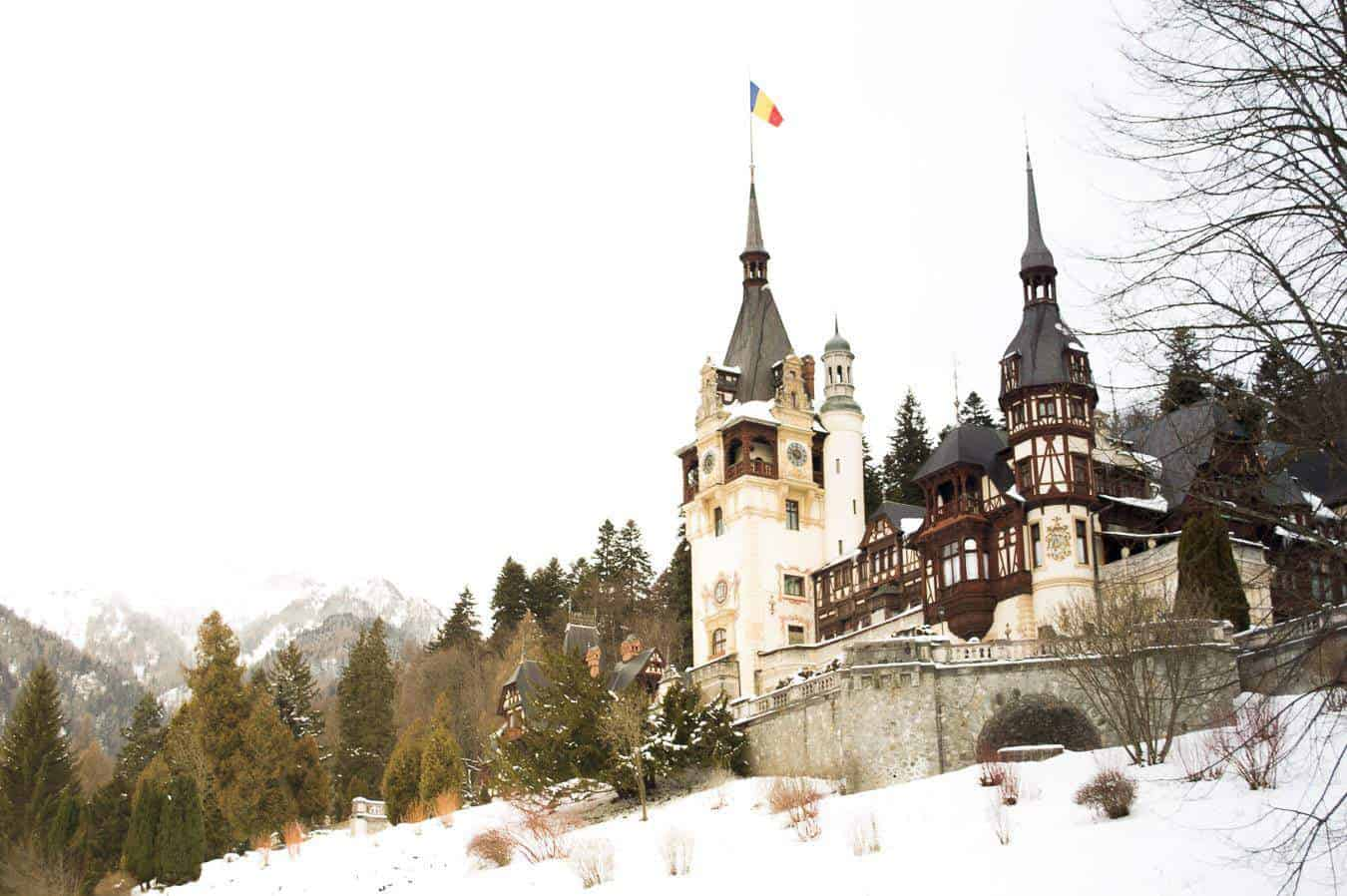 romania things to do - Peles Castle in winter