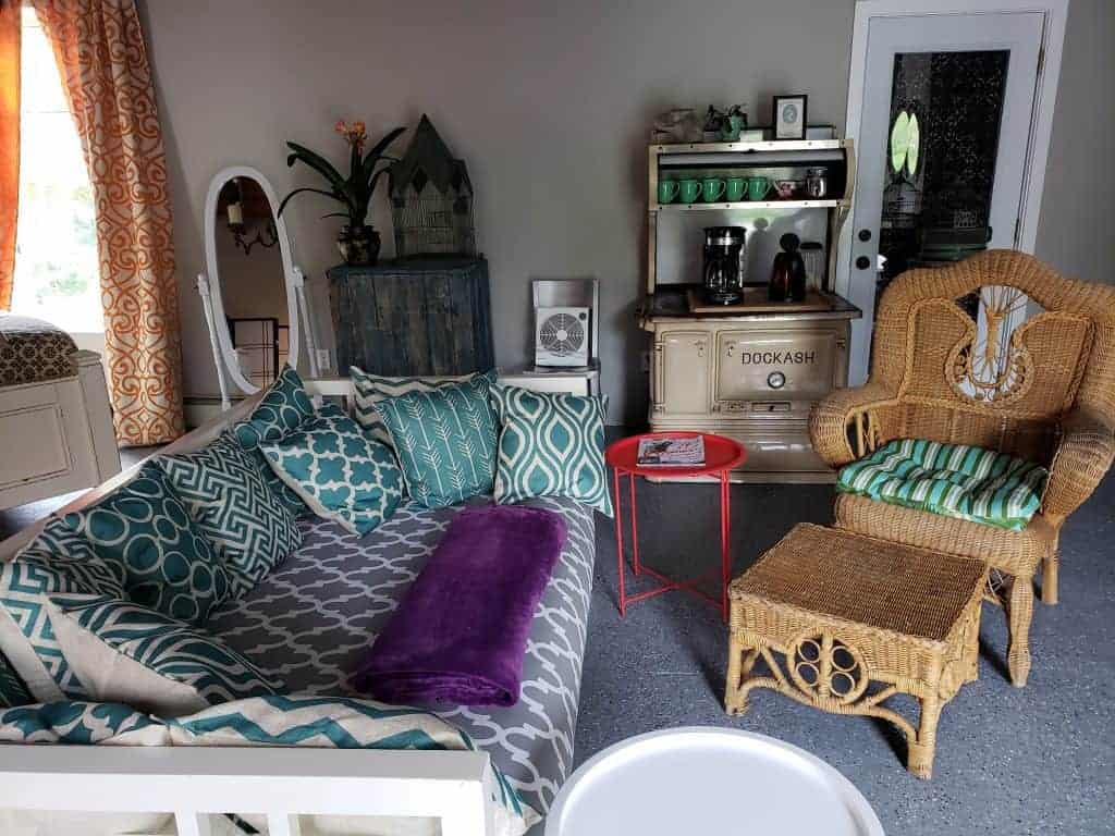 interior of airbnb - top maine airbnbs