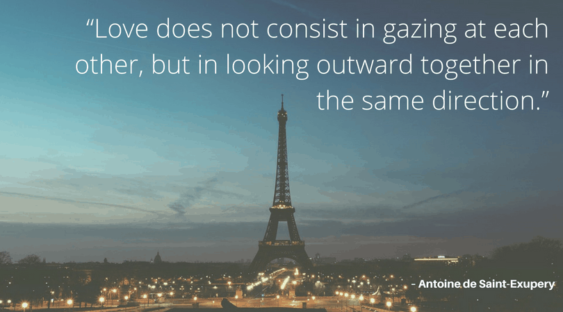 instagram quotes love - eiffel tower with romantic quote