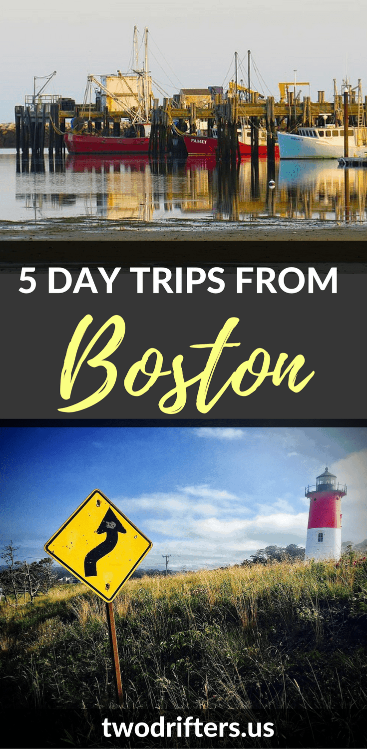 The city of Boston is the perfect gateway to visiting the rest of New England. Here are 5 awesome day trips from Boston to inspire a road trip adventure. #boston #NewEngland #USATravel #Travel #NewEnglandTravel #Massachusetts #MassachusettsTravel