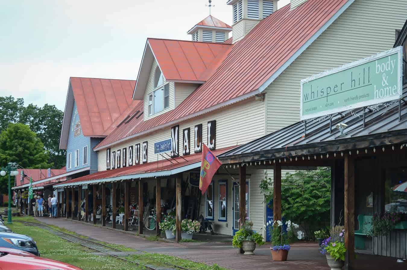 Woodstock VT shopping