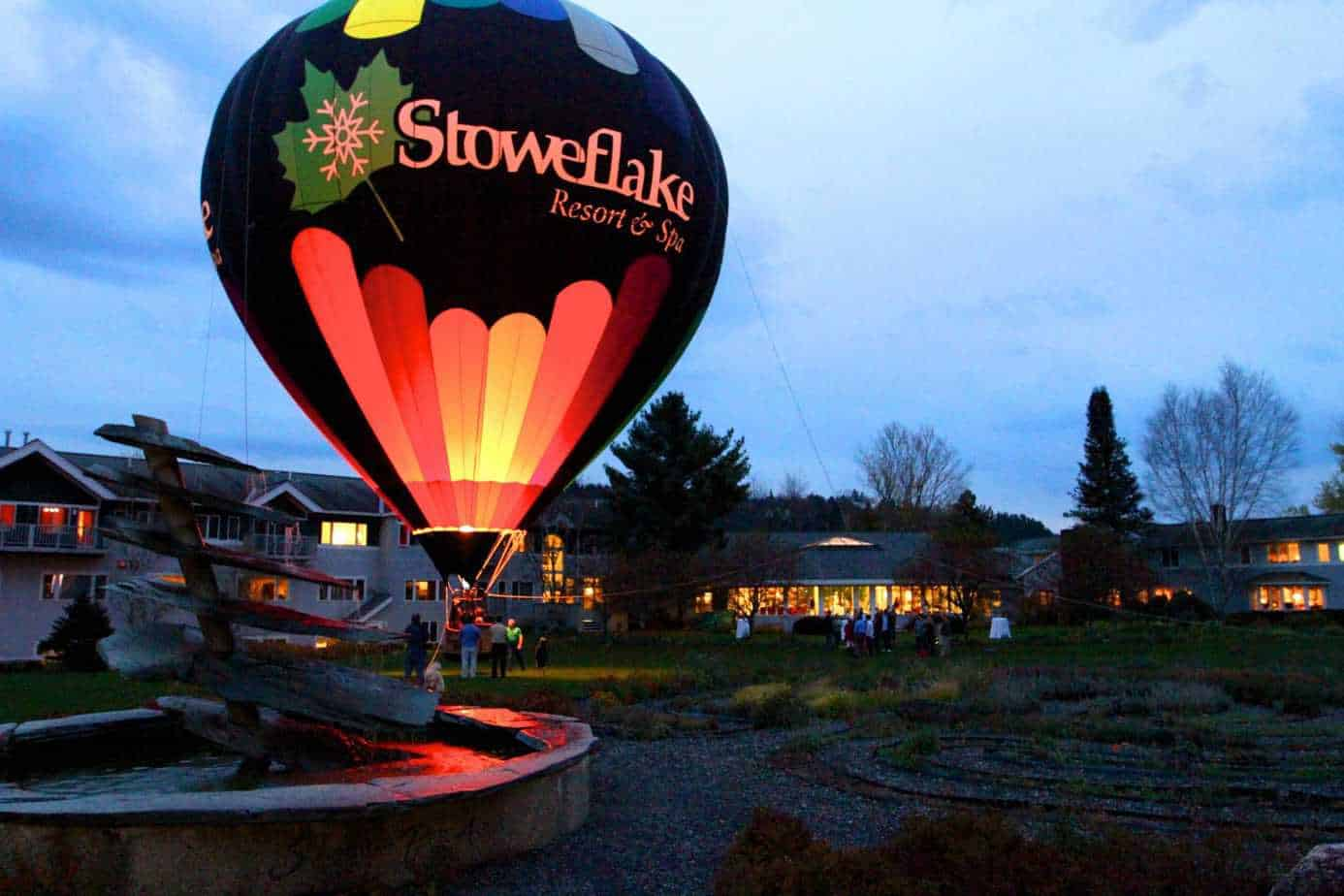 romantic getaways in Vermont - hot air balloon