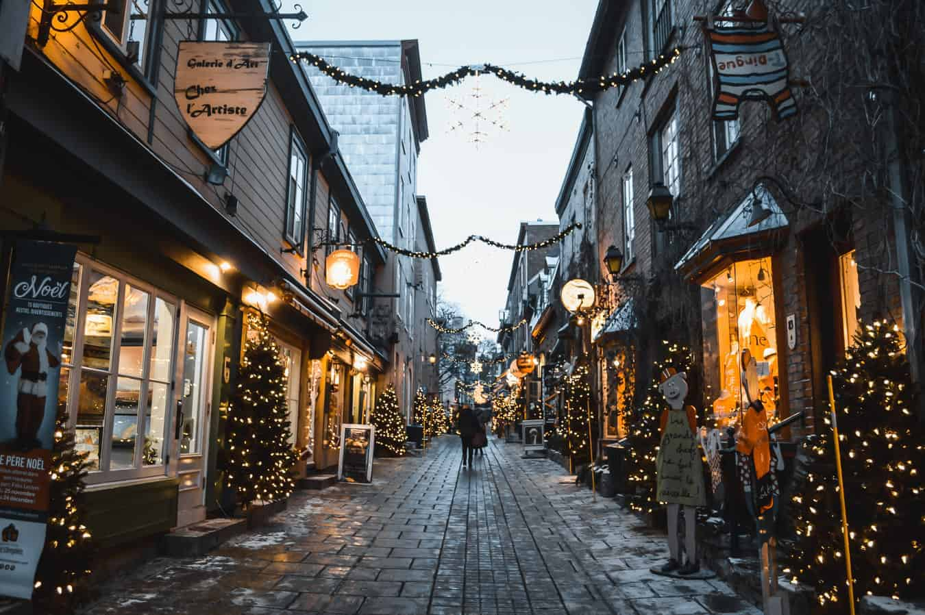 romantic quebec at the holidays