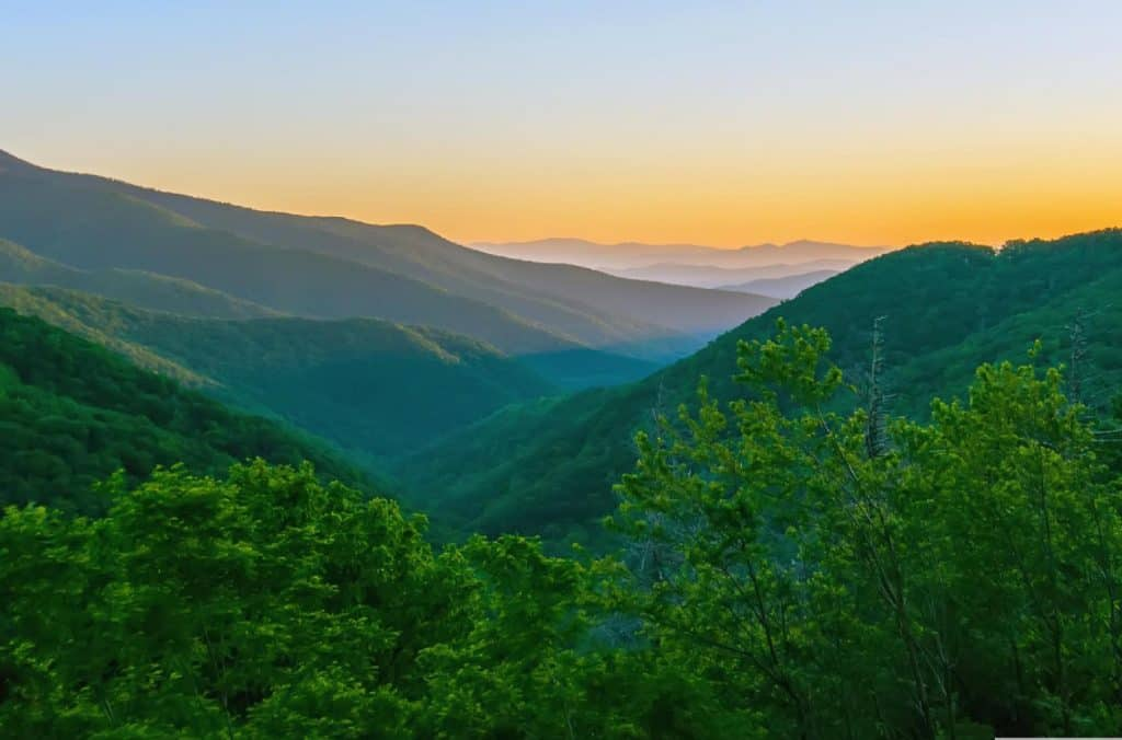 romantic places in america - green mountains of north carolina