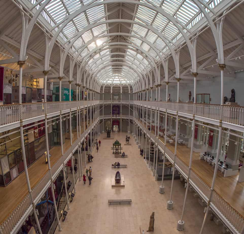 Edinburgh romantic spots - the National Museum of Scotland