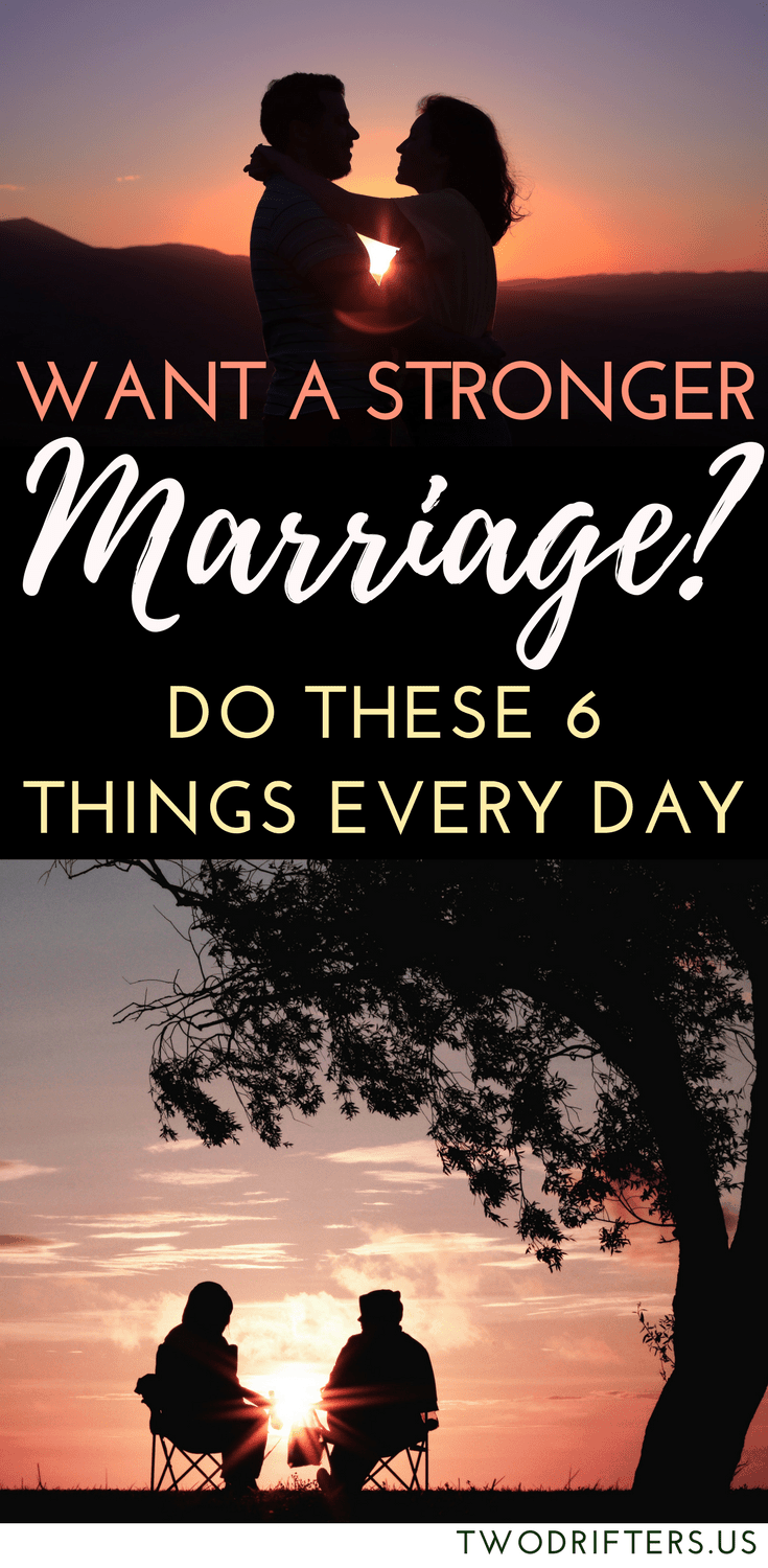 Things to do to strengthen your marriage