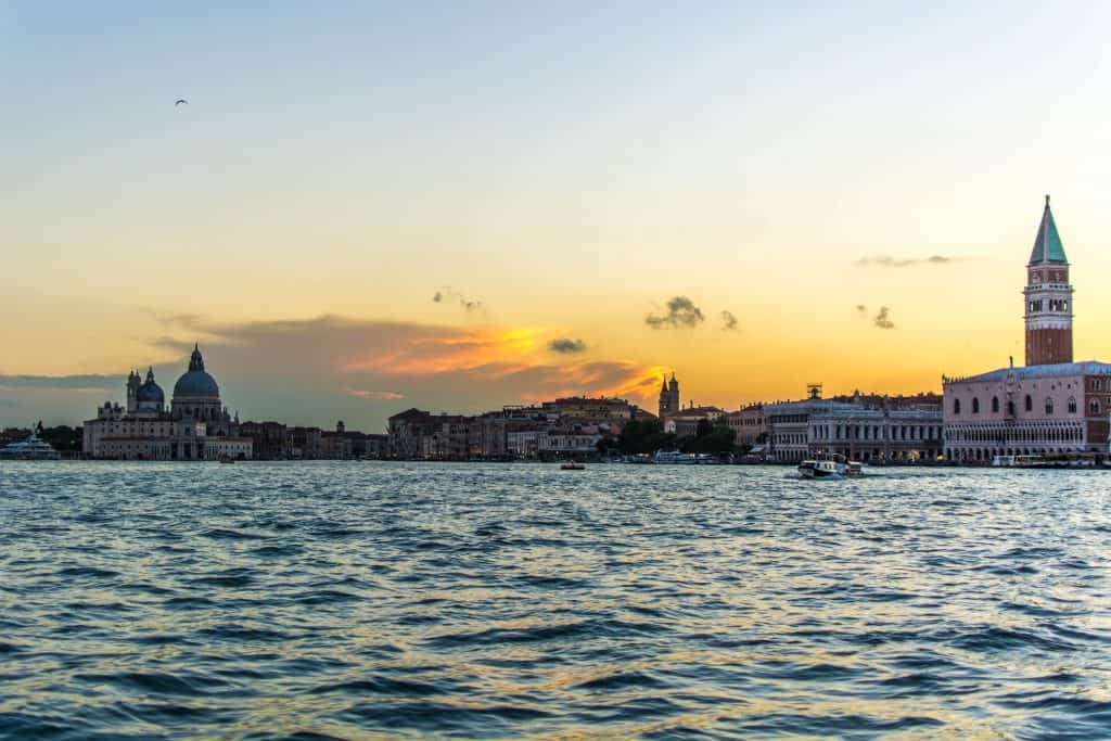sunset over Venice Italy, romantic things to do in Venice