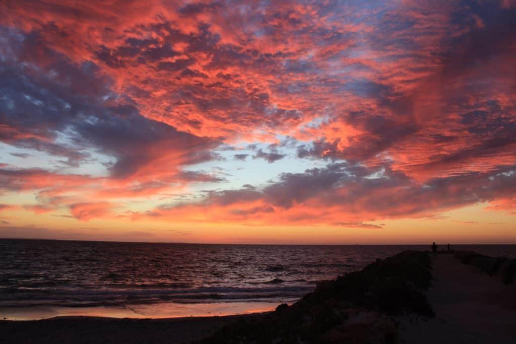 things to do Western Australia - sunset on beach