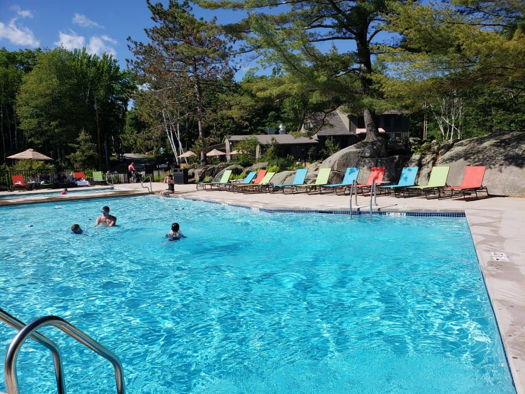 maine glamping - sandy pines saltwater pool