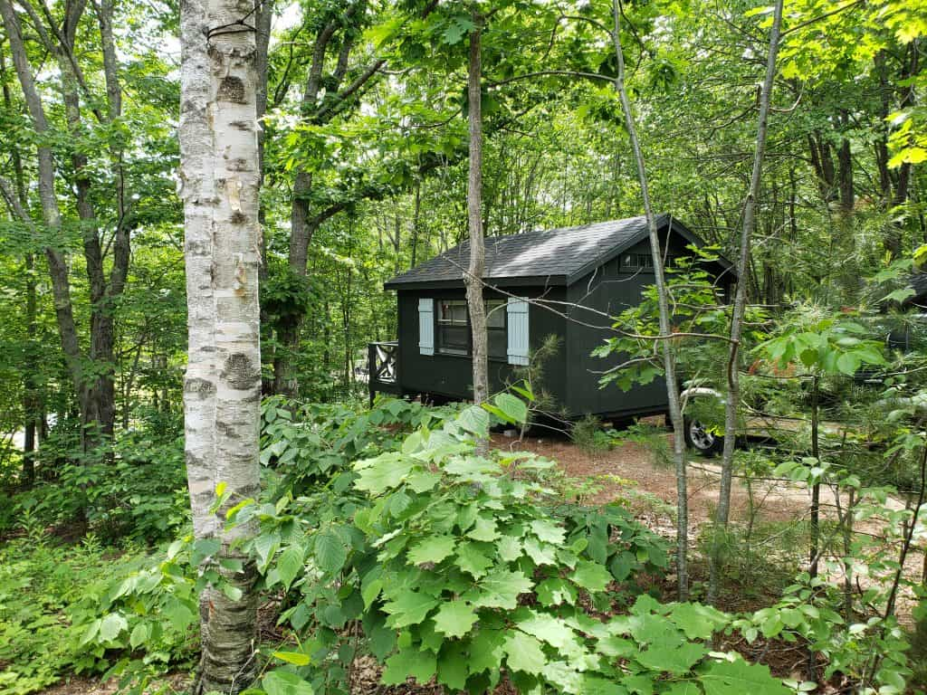 glamping in maine - sandy pines camp carriage