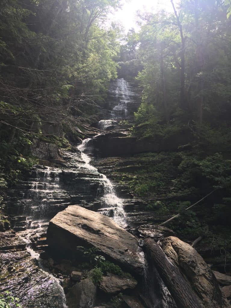 manchester vt things to do - lye brook falls