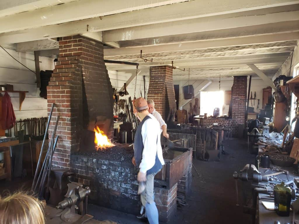 blacksmith - attractions in colonial williamsburg