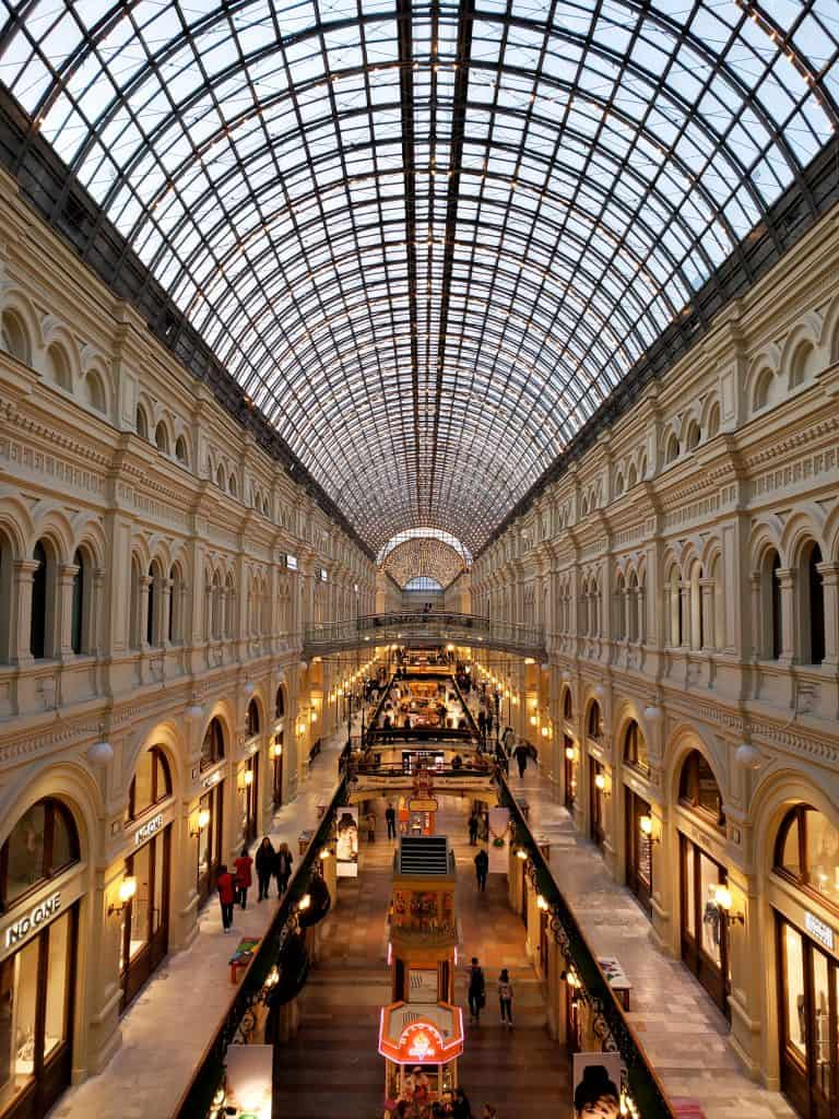 moscow points of interest - gum department store interior