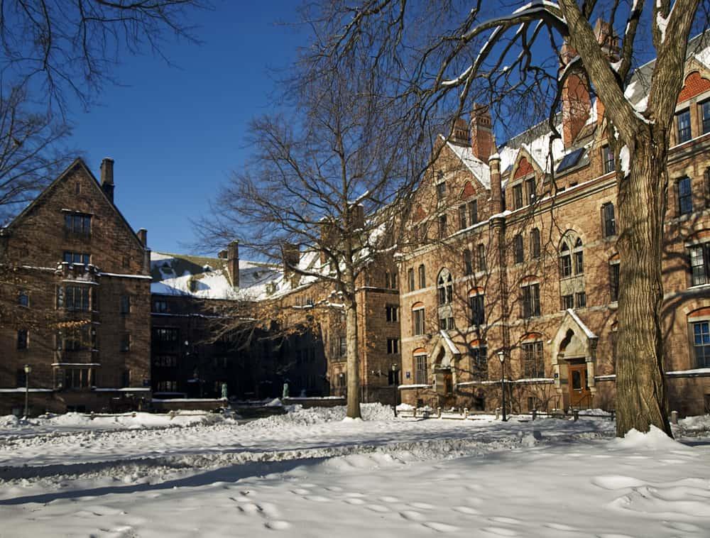 Winter image of Yale University