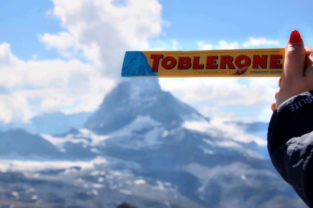 winter in switzerland - toblerone with peak