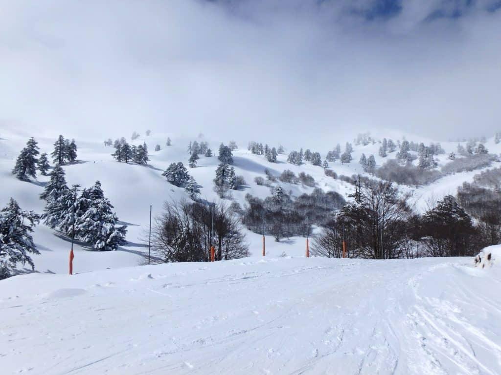 europe winter greece ski resort