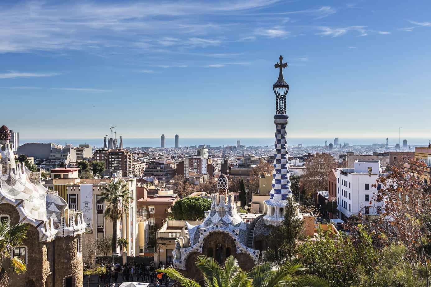 view over city of barcelona - romantic things to do in barcelona header