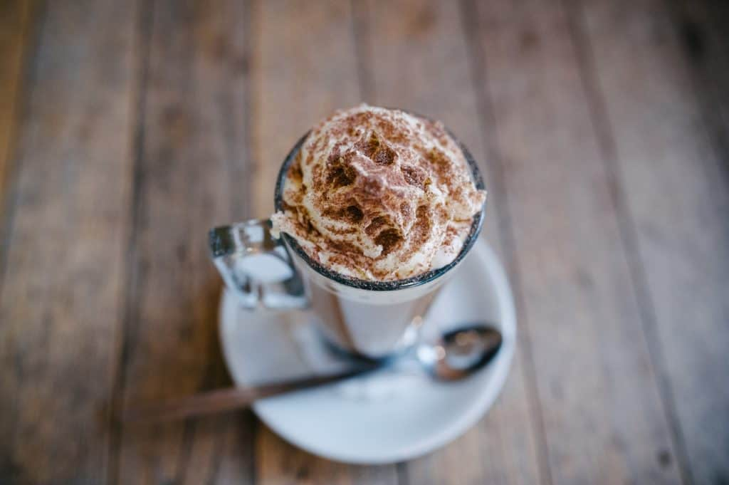 hot cocoa on a table - romantic things to do in chicago
