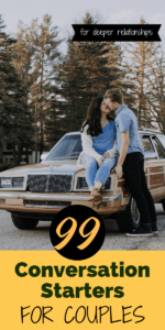 There are so many possible conversations for couples to have. Need some inspiration? Running out of things to talk about with your partner? Never fear! We've got 99 conversation starters for couples right here, guaranteed to get you talking. #Couples #Relationships #RelationshipAdvice #Dating #DateNight #DateIdeas #Questions