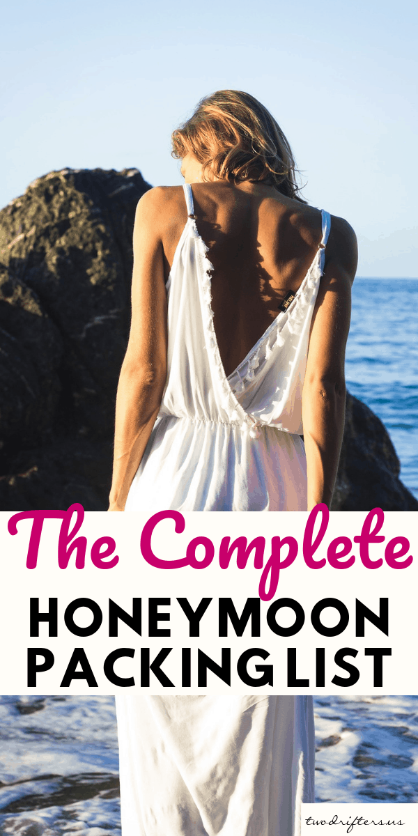 Get ready for your perfect honeymoon. Our complete honeymoon packing list includes all the honeymoon essentials for a great first trip as husband and wife. #Honeymoon #Honeymooning #HoneymoonTips #RomanticGetaway #CouplesTravel #Wedding #WeddingPlanning #HoneymoonIdeas #PackingList #Packing #TravelTips #Travel