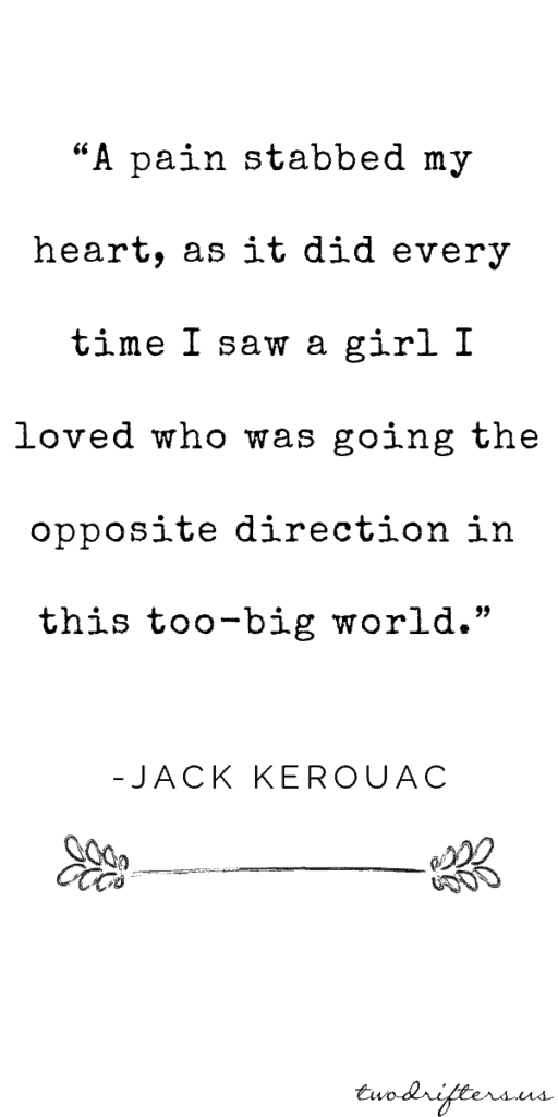 image of kerouac quote