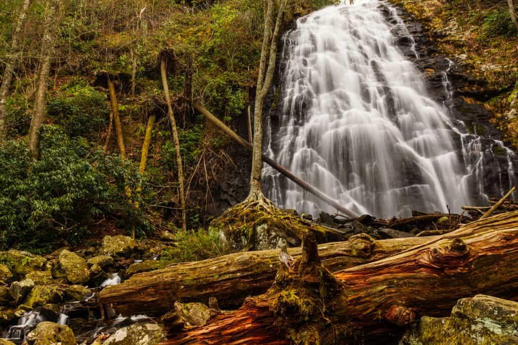 Crabtree Falls near the Blue Ridge Parkway in North Carolina, United States