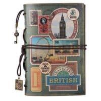 Leather Journal Notebook, MALEDEN Spiral Bound Traveler Notebook