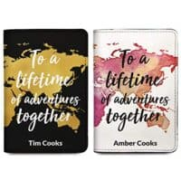 His & Hers Passport Covers