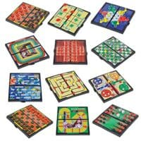 Gamie Magnetic Board Travel Game Set Includes 12 Retro Fun Games