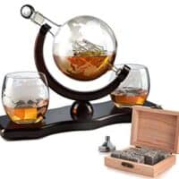The Wine Savant World Decanter - With 2 Globe Glasses