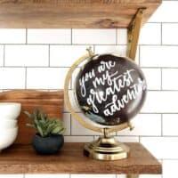 Hand Lettered Globe