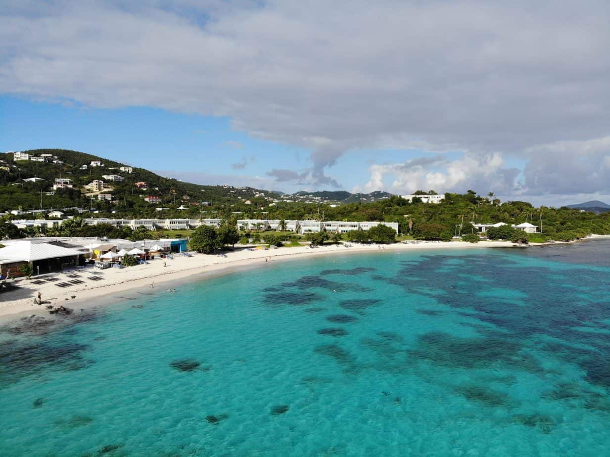 romantic things to do in st thomas - image of turquoise beach from the water
